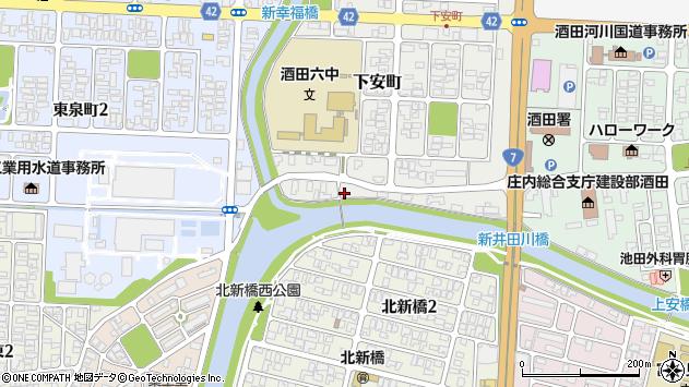 山形県酒田市下安町56周辺の地図