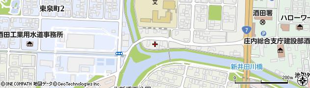 山形県酒田市下安町118周辺の地図