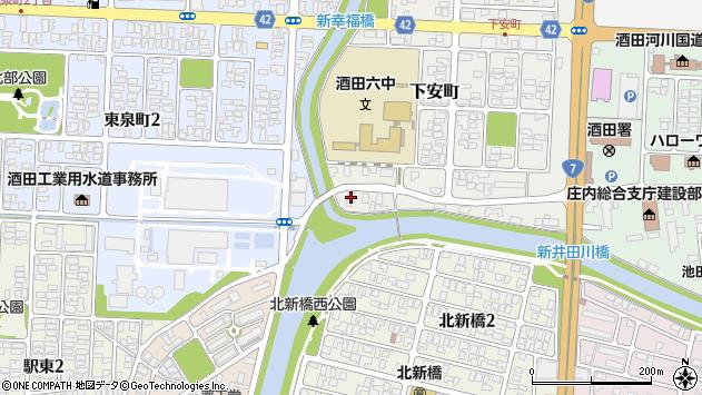 山形県酒田市下安町119周辺の地図