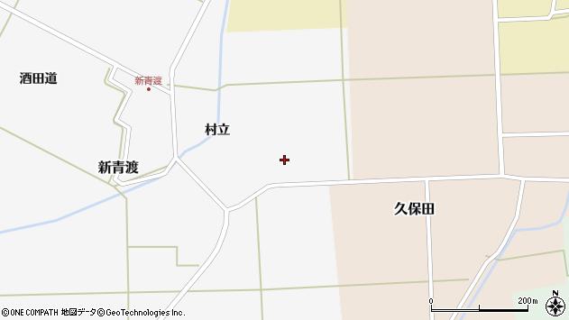 山形県酒田市新青渡東割周辺の地図