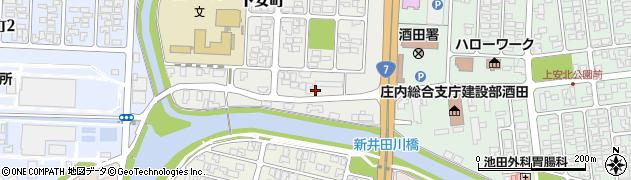 山形県酒田市下安町3周辺の地図
