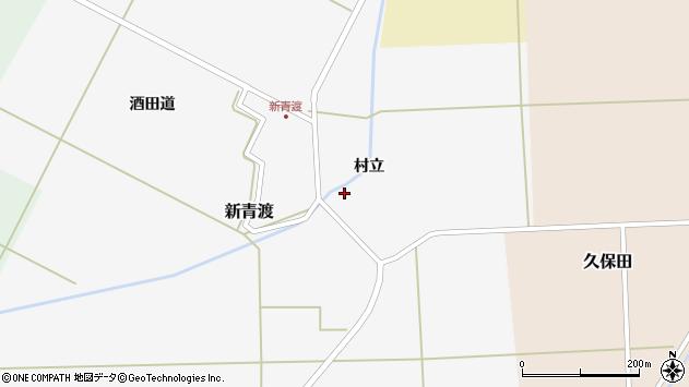 山形県酒田市新青渡村立35周辺の地図