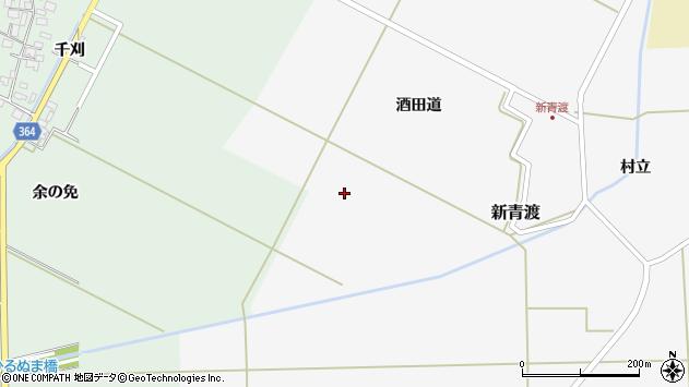 山形県酒田市新青渡家際周辺の地図