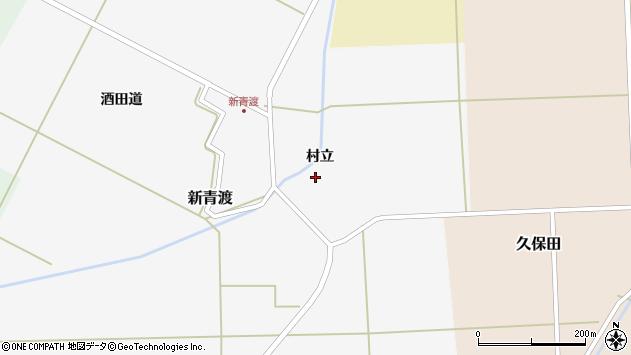 山形県酒田市新青渡村立23周辺の地図