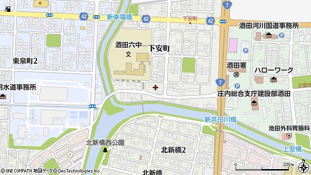 山形県酒田市下安町2周辺の地図