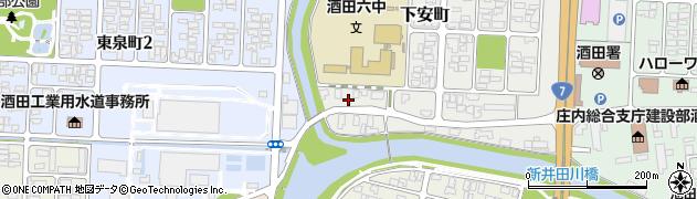 山形県酒田市下安町1周辺の地図