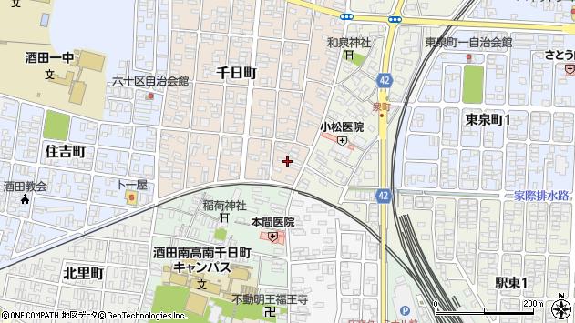 山形県酒田市千日町1周辺の地図