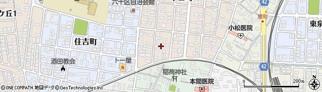 山形県酒田市千日町18周辺の地図