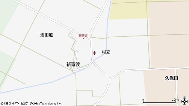 山形県酒田市新青渡村立周辺の地図