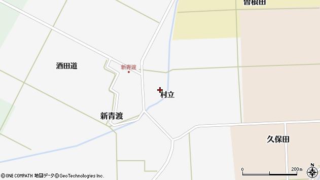 山形県酒田市新青渡村立31周辺の地図
