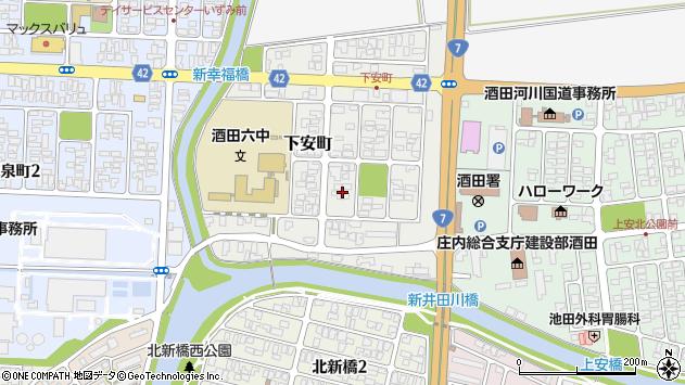 山形県酒田市下安町9周辺の地図