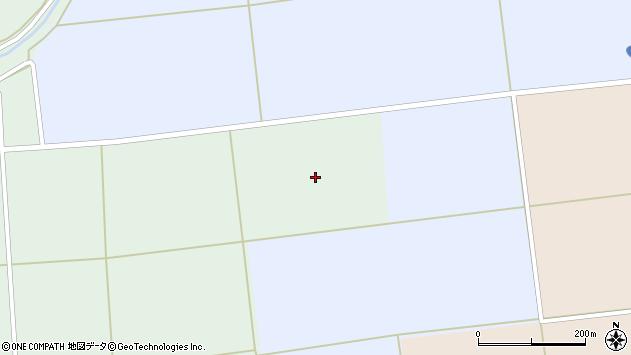 山形県酒田市北沢横桑中谷地周辺の地図