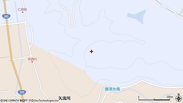 山形県酒田市北沢楯山周辺の地図