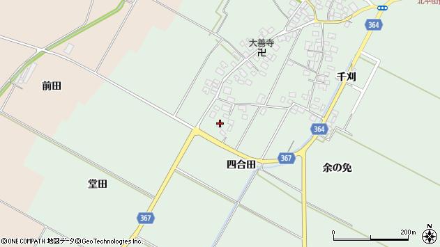 山形県酒田市漆曽根四合田183周辺の地図