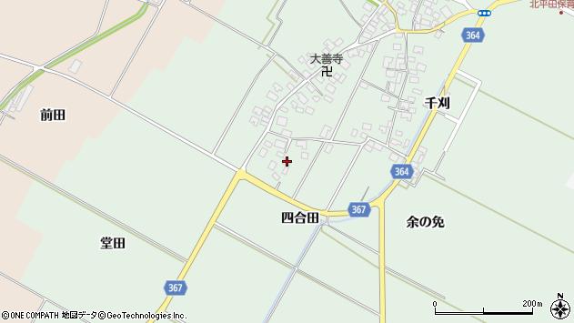 山形県酒田市漆曽根四合田186周辺の地図
