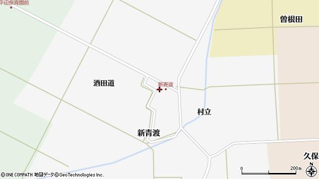 山形県酒田市新青渡村立18周辺の地図