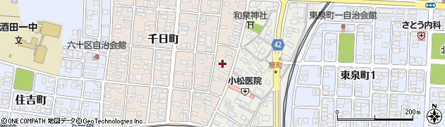 山形県酒田市千日町2周辺の地図