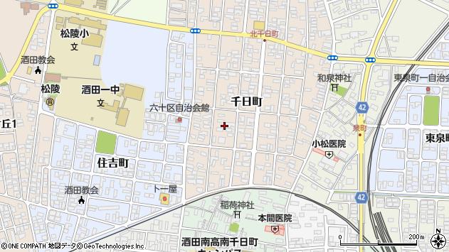 山形県酒田市千日町17周辺の地図