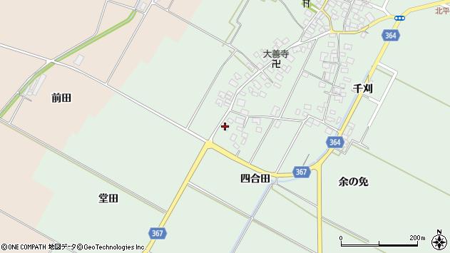 山形県酒田市漆曽根四合田184周辺の地図