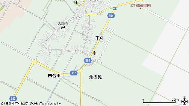 山形県酒田市漆曽根余の免28周辺の地図