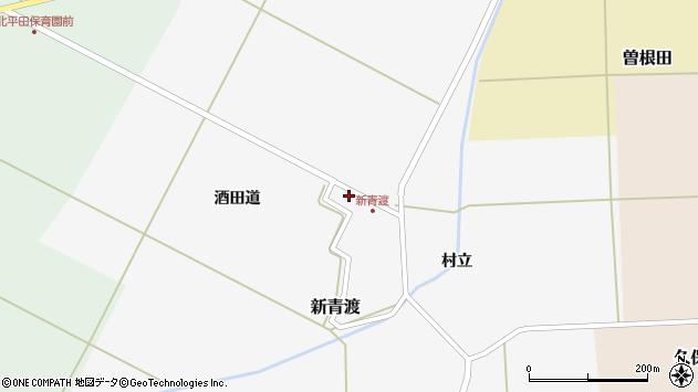 山形県酒田市新青渡酒田道21周辺の地図