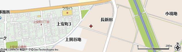 山形県酒田市中野曽根長新田周辺の地図