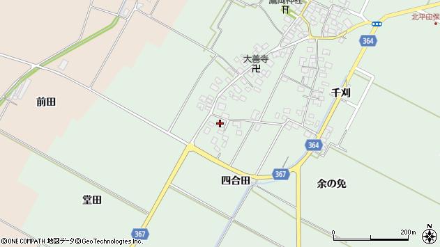 山形県酒田市漆曽根四合田188周辺の地図