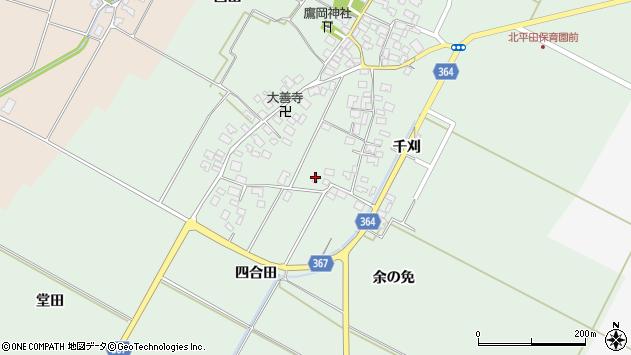 山形県酒田市漆曽根四合田71周辺の地図