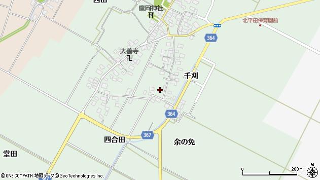 山形県酒田市漆曽根四合田32周辺の地図