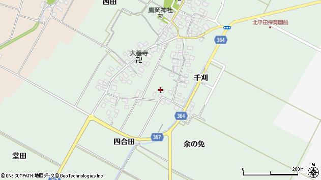 山形県酒田市漆曽根四合田70周辺の地図