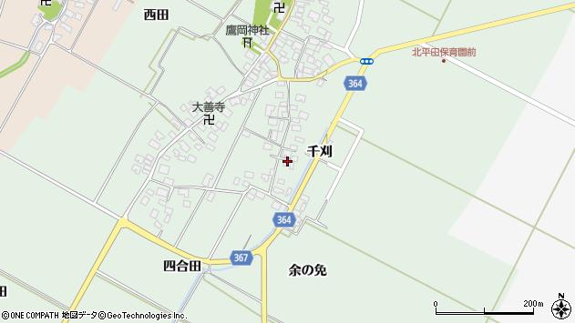 山形県酒田市漆曽根四合田26周辺の地図