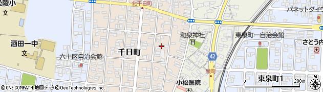 山形県酒田市千日町4周辺の地図