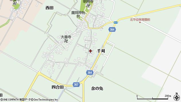 山形県酒田市漆曽根四合田25周辺の地図
