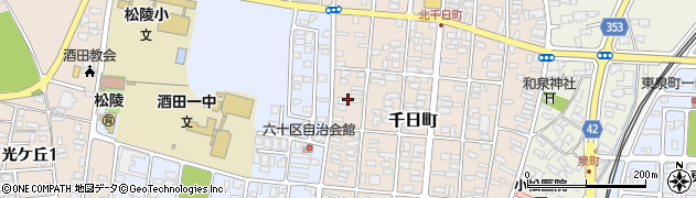 山形県酒田市千日町21周辺の地図