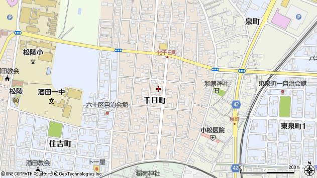 山形県酒田市千日町13-23周辺の地図
