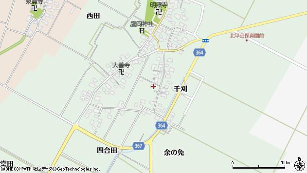 山形県酒田市漆曽根四合田36周辺の地図