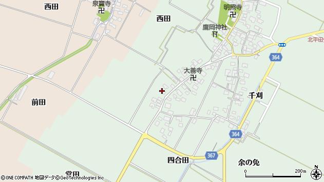 山形県酒田市漆曽根四合田177周辺の地図