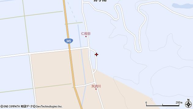 山形県酒田市北沢仁枚田周辺の地図