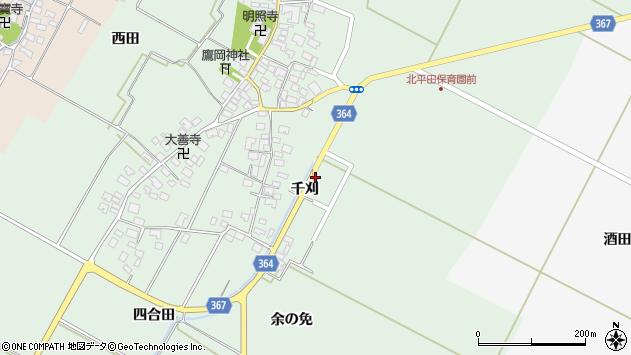 山形県酒田市漆曽根千刈39周辺の地図