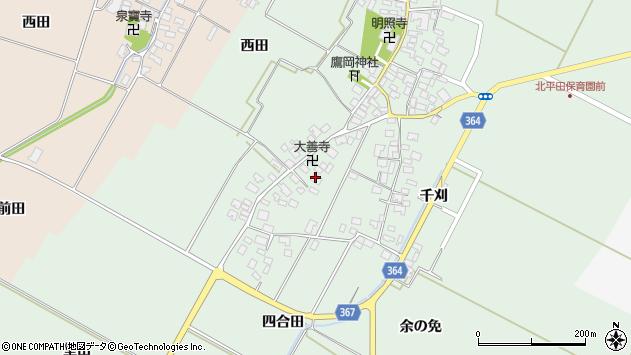 山形県酒田市漆曽根四合田125周辺の地図