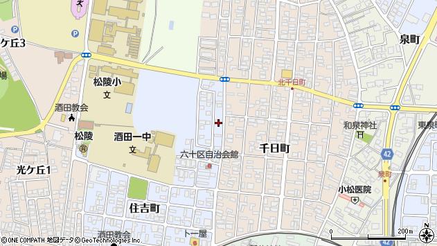 山形県酒田市住吉町6周辺の地図