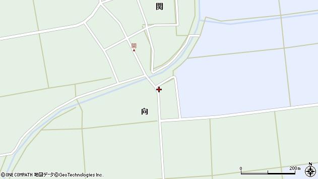 山形県酒田市関向48周辺の地図
