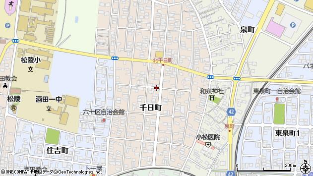 山形県酒田市千日町13-19周辺の地図