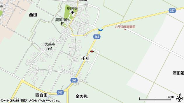 山形県酒田市漆曽根千刈38周辺の地図