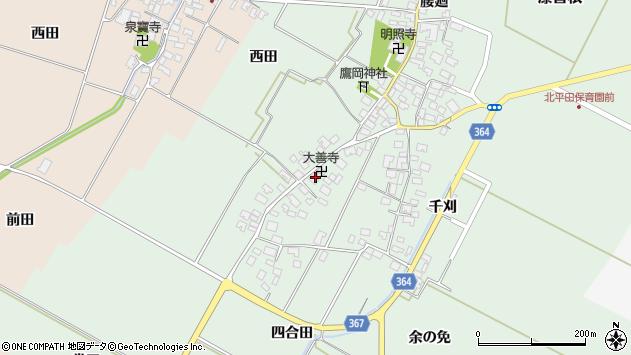 山形県酒田市漆曽根四合田127周辺の地図