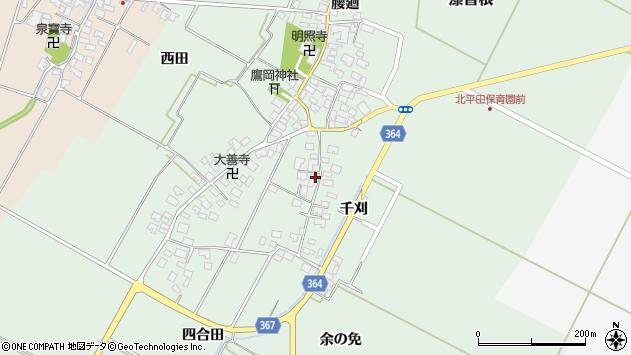 山形県酒田市漆曽根四合田45周辺の地図