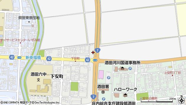 山形県酒田市下安町20周辺の地図