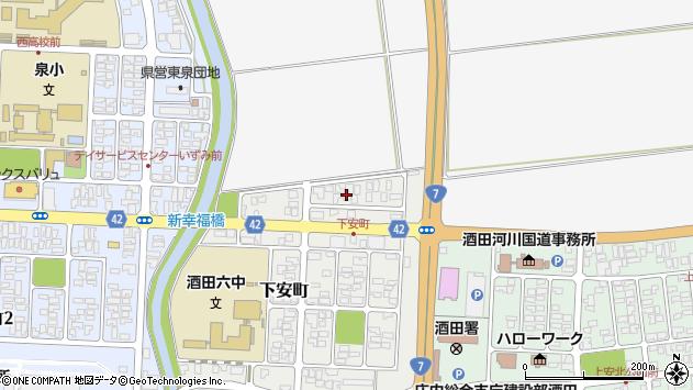 山形県酒田市下安町19周辺の地図