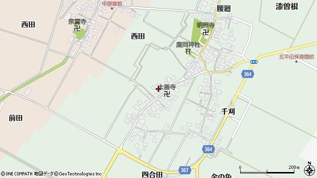 山形県酒田市漆曽根四合田138周辺の地図