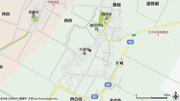 山形県酒田市漆曽根四合田130周辺の地図